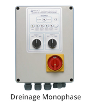 aerre2 water drainage monophase electrical control panel