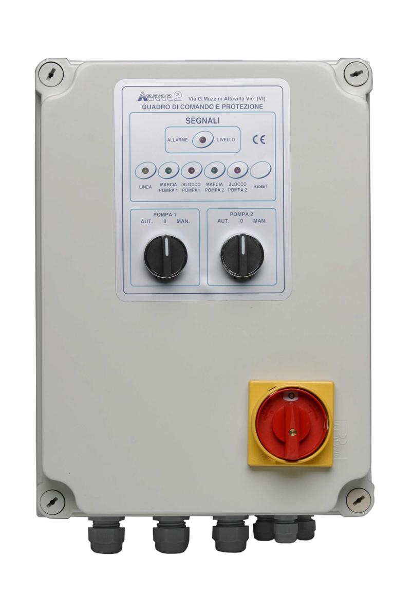 Schema Quadro Elettrico Per Pompa Sommersa Trifase : Quadro elettrico tipo q2ptd aerre2